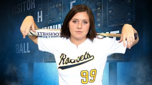 softball player with bat