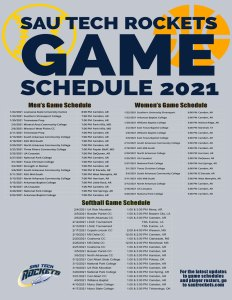 game schedule for print 2020