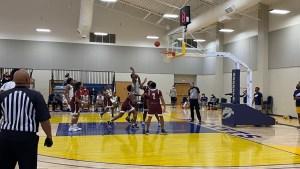 college men playing basketball