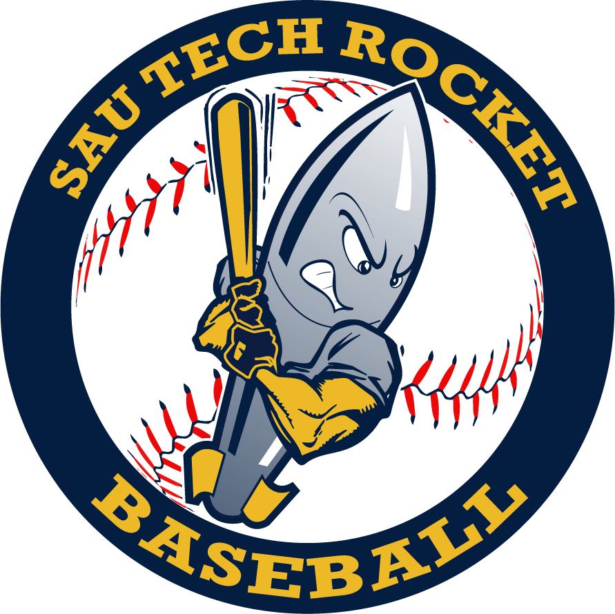 rocket graphic with baseball bat