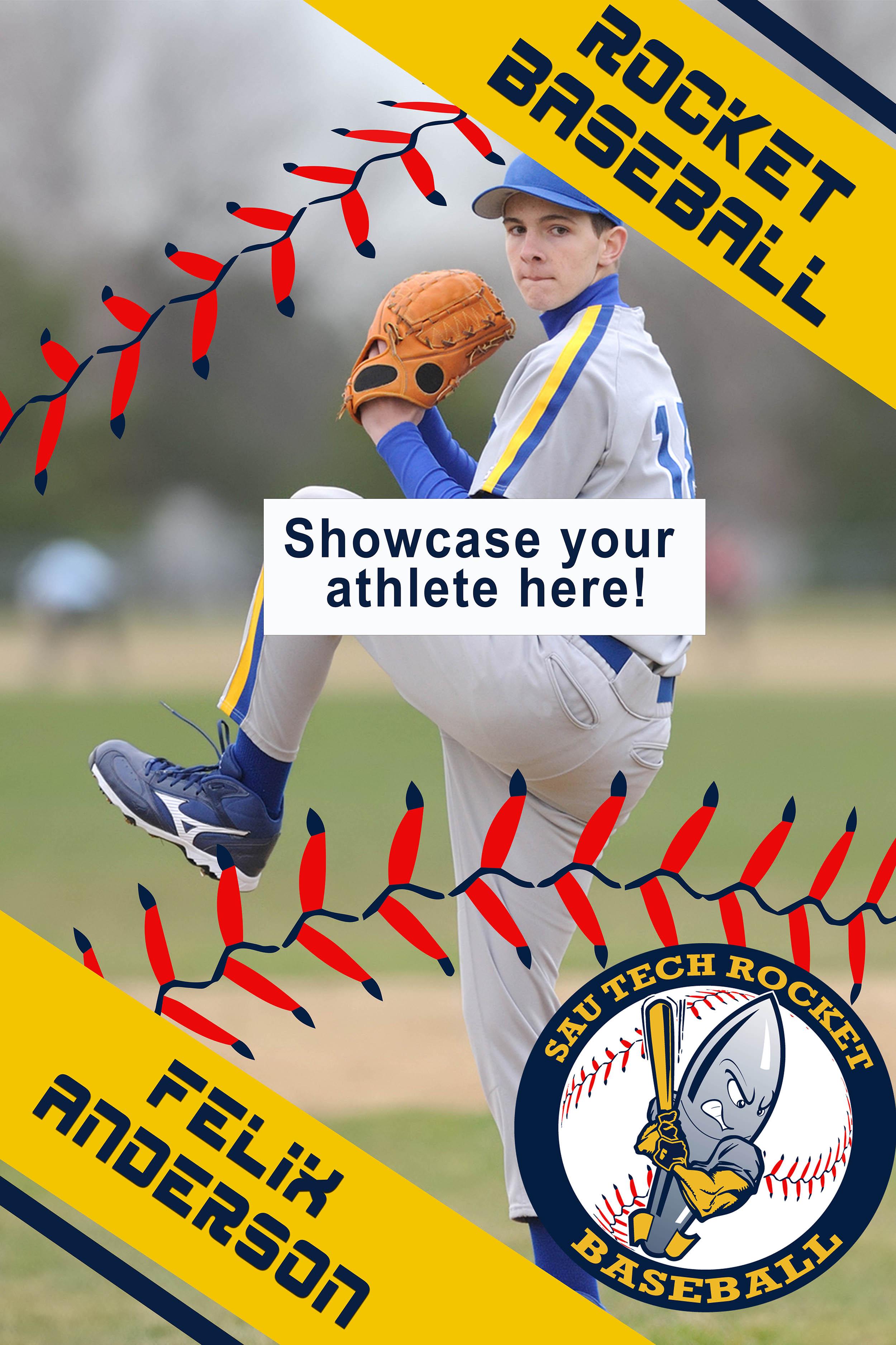 stylized baseball poster
